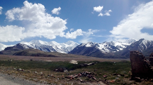 View at the Kyrgyz border