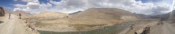 Panorama of the first view of Afghanistan. For an interactive version of this photo, click here.