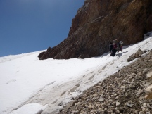 The second snowfield crossing of the day. Photo: Bjorn