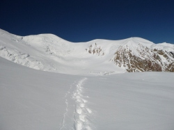 Looking back towards Camp 2 and Camp 3