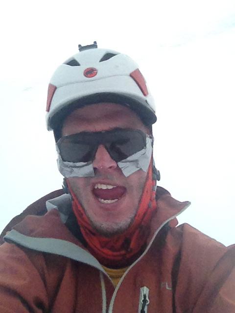 Homemade glacier goggles