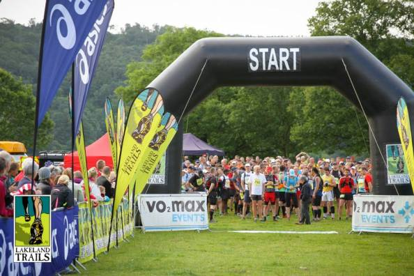 The start of the Coniston Marathon Challenge