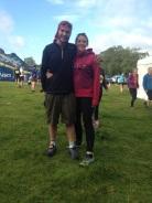 Davinia and I before the race