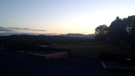 Sunset from our awesome B&B in Hawkshead