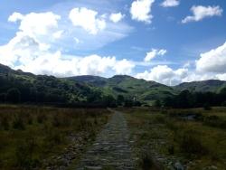 Starting the walk to Easedale Tarn