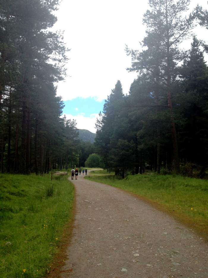 Starting out towards Corrie Fee on Glen Doll Trail