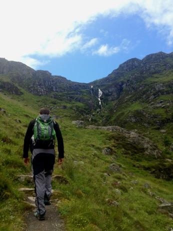 James leading the way up to Mayar