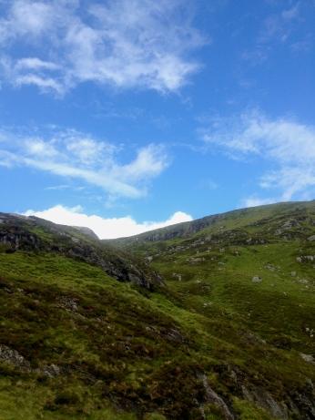 Green, rolling hills of Scotland