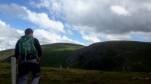 Another shot of James, this time with the Munro called Driesh in the distance