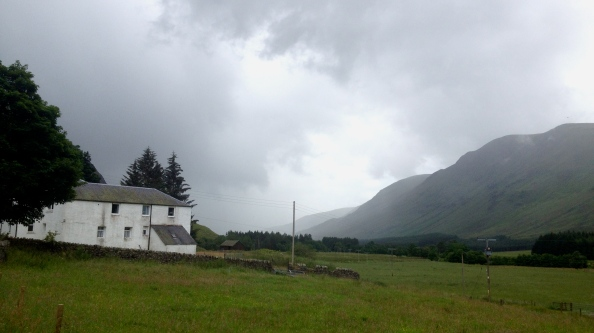 Exiting Glen Clova before the rain entered