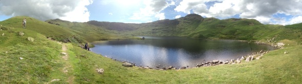 Panorama from Easedale Tarn. Click here for an interactive panarama