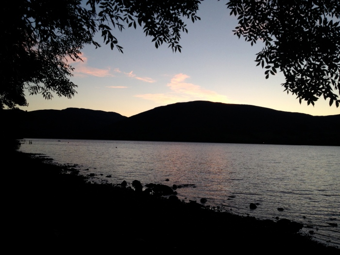 Dusk at Loch Earn, Scotland