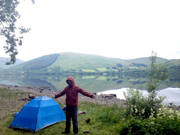 Waking up to heavy midges with a chance of rain at Loch Earn