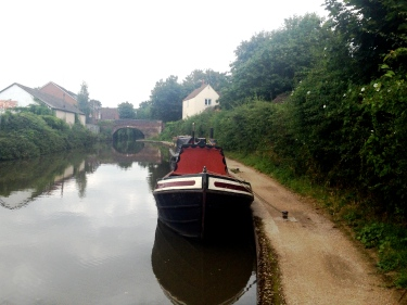Houseboat on the tow path