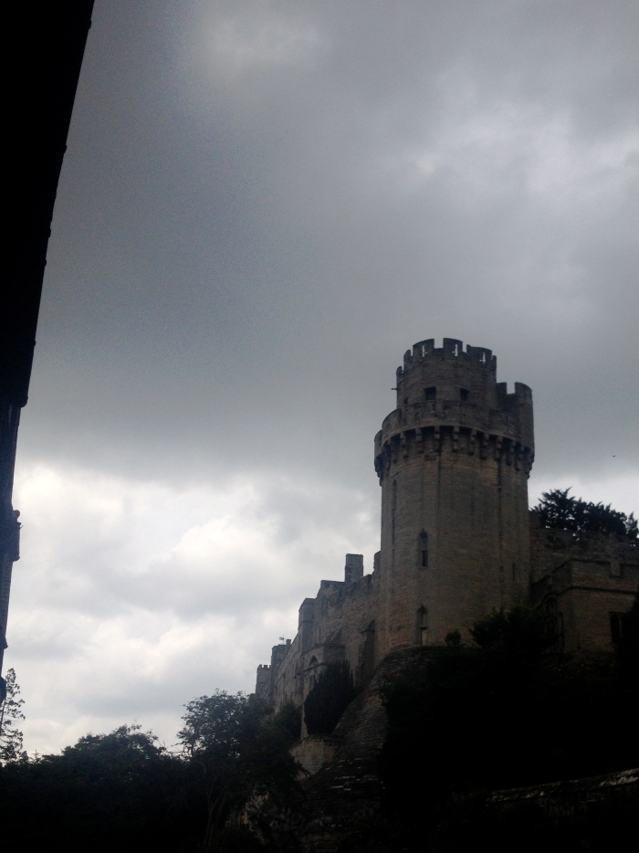 "Warwick Castle and a ""classic English sky"""