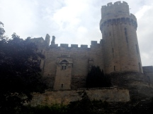 Warwick Castle from the Mill Gardens