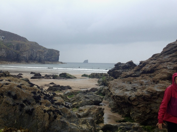 St Agnes in the rain