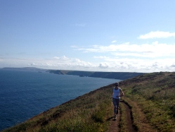 Dav on the coastal trail near St. Ives