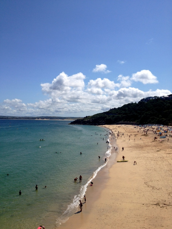 One of the main beaches at St. Ives