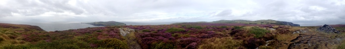Panorama from the southern part of the Isle of Man