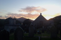 Sunset and Graveyard at Maughold