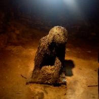 Moddey Dhoo is the black dog that haunts Peel Castle.