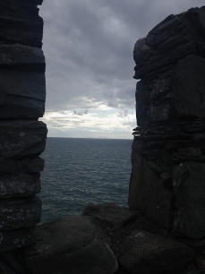 Ireland in the distance from Peel Castle